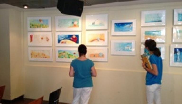 La exposición de originales de Montse Gisbert en Fnac-Valencia